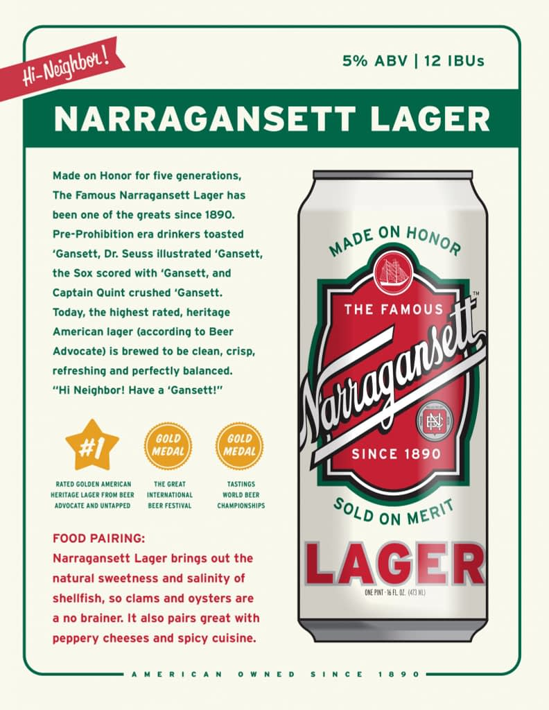 Narragansett Brewing 1